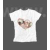 Kép 1/2 - Dupla szív fényképes női póló