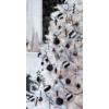 Kép 2/2 - Gömb üveg karácsonyfadísz 2,5 cm fekete fényes-matt 24db