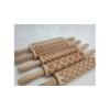 Kép 2/2 - Kekszmintázó sodrófa - Hópihe 40cm