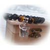 Kép 1/3 - Férfi ásványkarkötő anubis fejjel