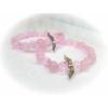 Kép 1/2 - Rózsakvarc ásványkarkötő angyalszárnnyal