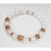 Kép 2/3 - Rosegold cirkónia szívvel - Női ásványkarkötő
