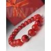 Kép 2/2 - Piros talizmán női ásvány karkötő