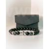 Kép 2/3 - Fekete matt férfi ónix ásványkarkötő Fekete matt férfi ónix ásványkarkötő