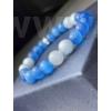 Kép 1/2 - Tengeri kékség női ásvány karkötő
