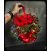 Kép 2/2 - Karácsonyi ajtódísz LED világítással