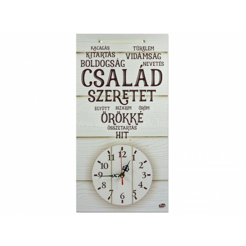 Falióra Család szeretet 50cm