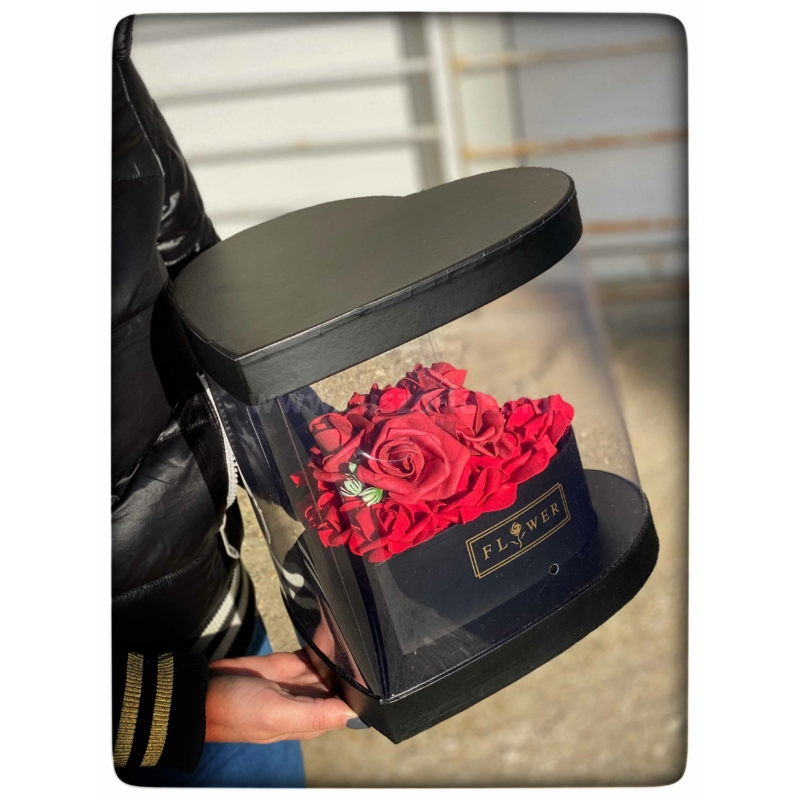 Glass Heart Box