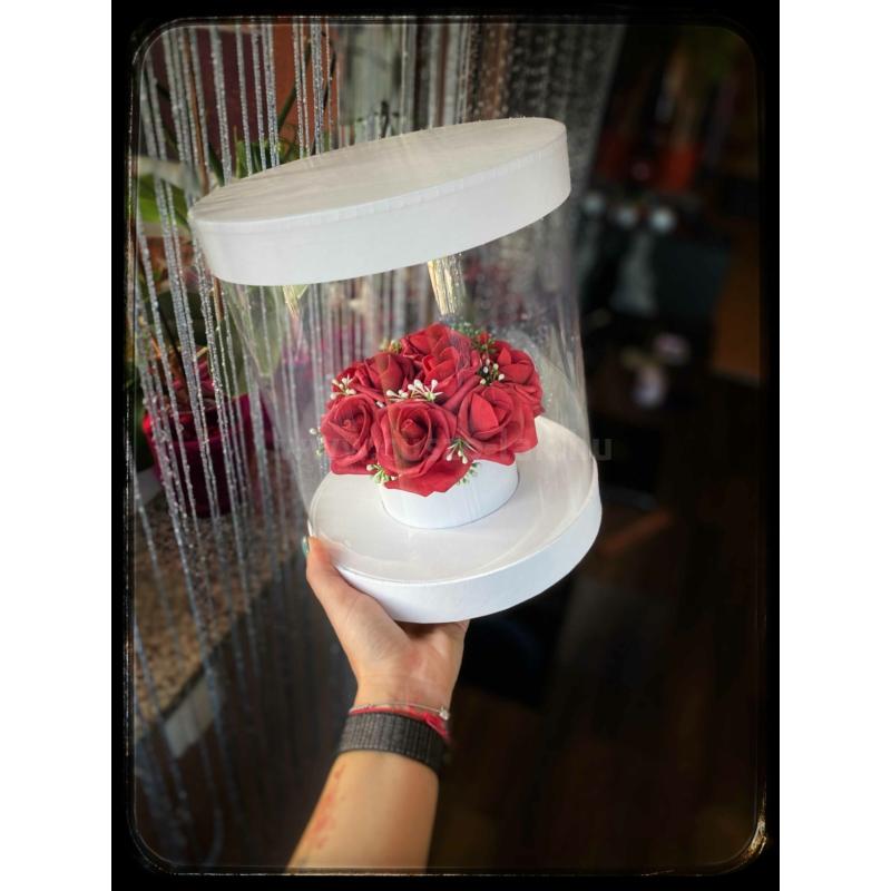 Glass rose box