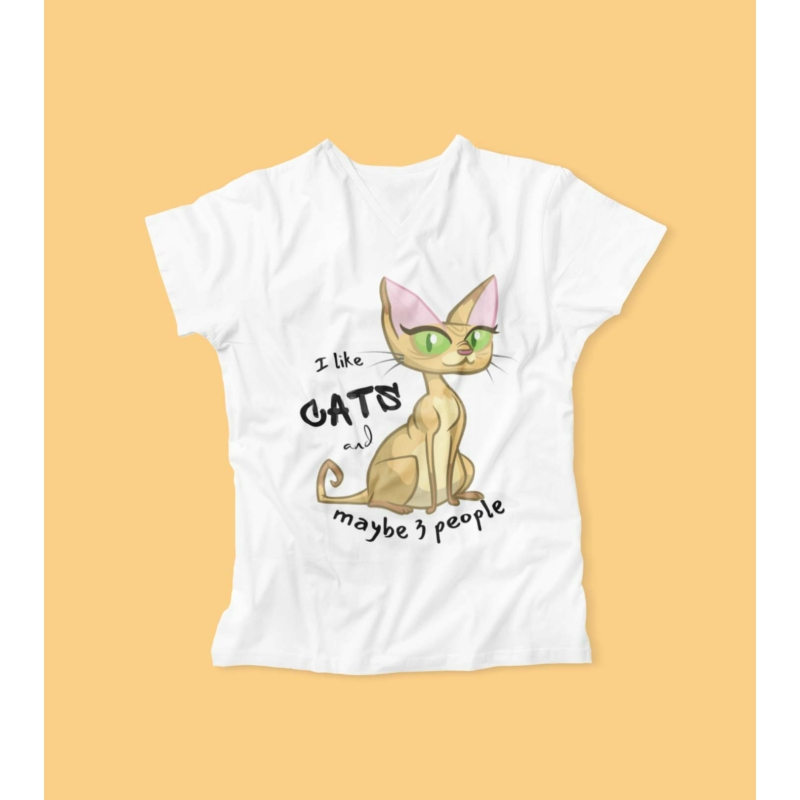 I like cats női póló