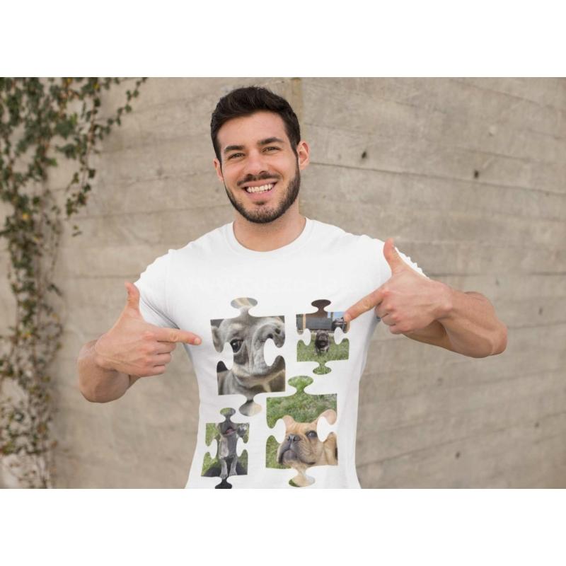 Puzzle fényképes férfi póló