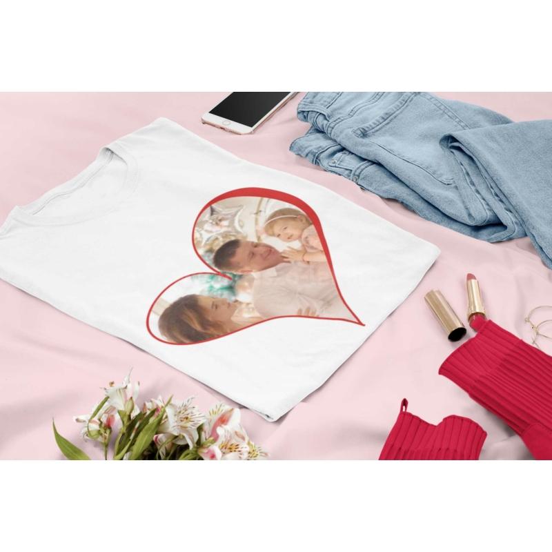 Szív fényképes női póló