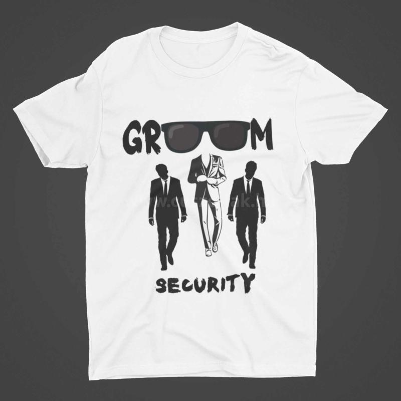 Groom Security  legénybúcsús póló