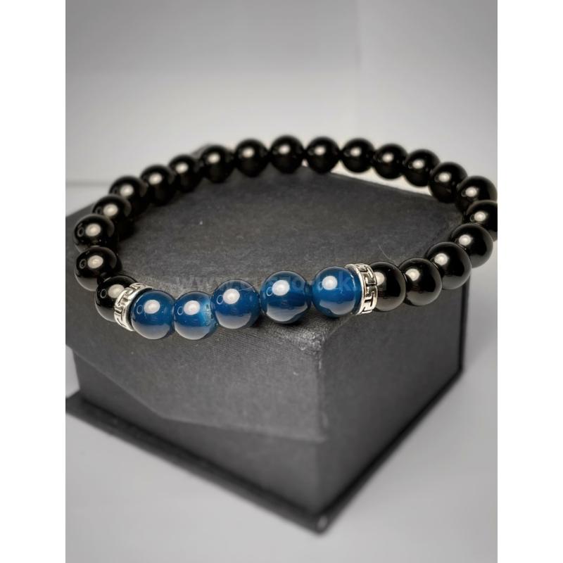 Királyi Lapis Lazuli - Férfi Ásvány Karkötő