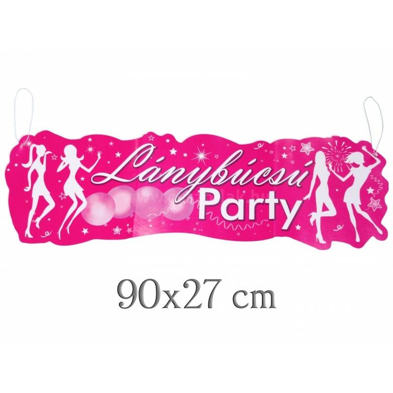 Banner Lánybúcsú party 90cm
