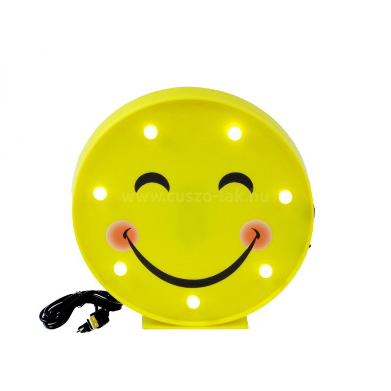 7 LEDes fali világító Smiley