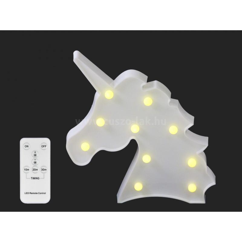 LEDes fali világító unicornis 25cm