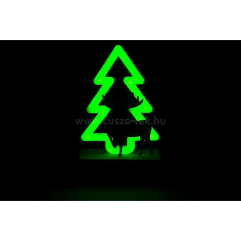 Fenyőfa LED világítással