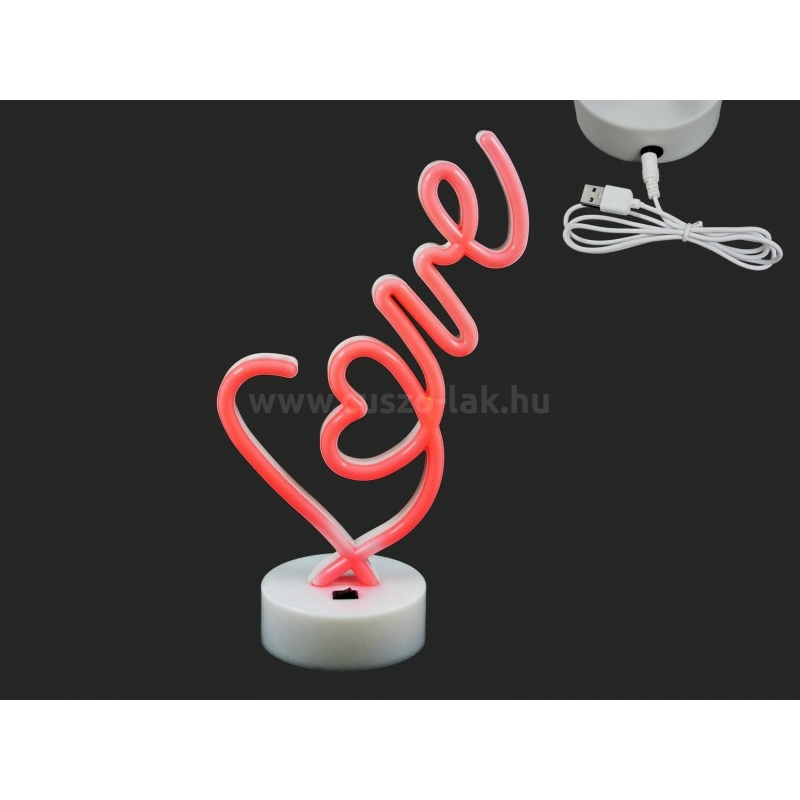 LEDes világító Love felirat piros 32cm