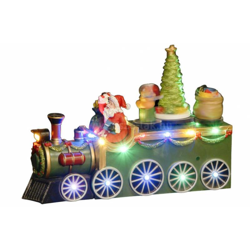 Zenélő és mozgó vonat LED világítással