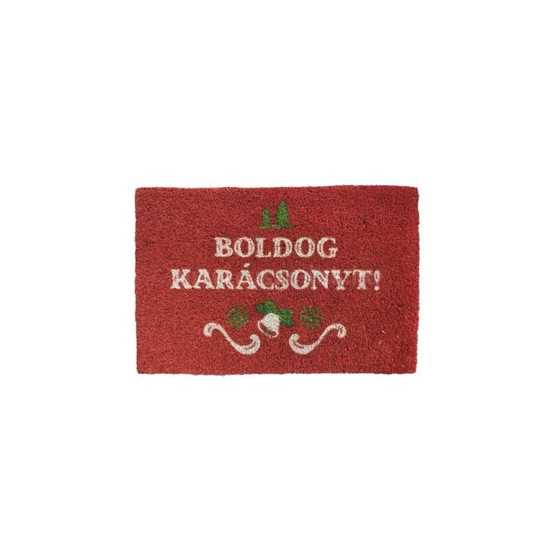 Lábtörlő Boldog karácsonyt felirattal kókuszrost