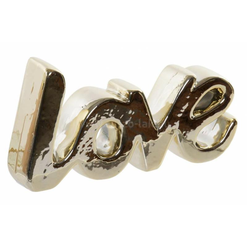 LOVE aranyozott felirat