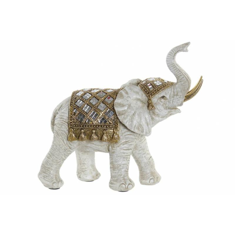 Elefánt szobor bézs színben