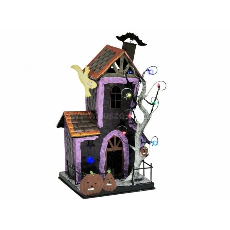 LEDes Halloween ház