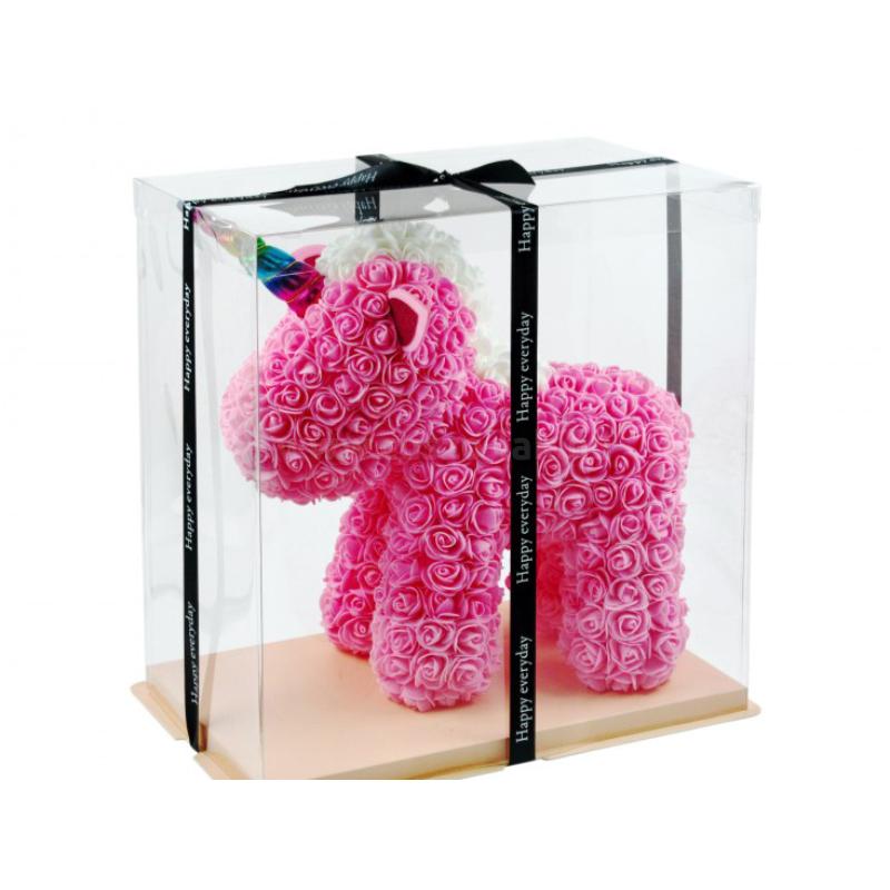 Rózsa Unikornis díszdobozban, rózsaszín
