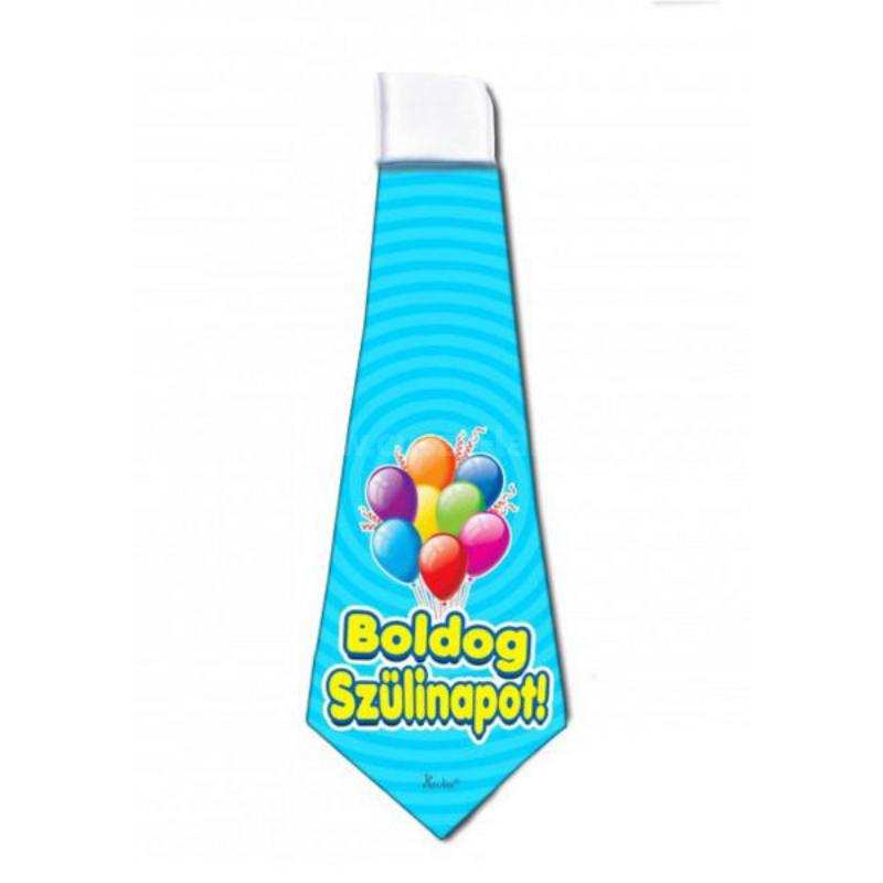 Boldog  Szülinapot nyakkendő kék