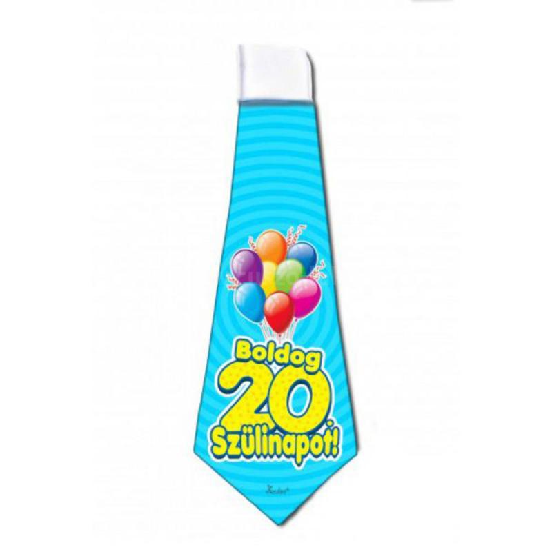 Boldog 20  Szülinapot Nyakkendő