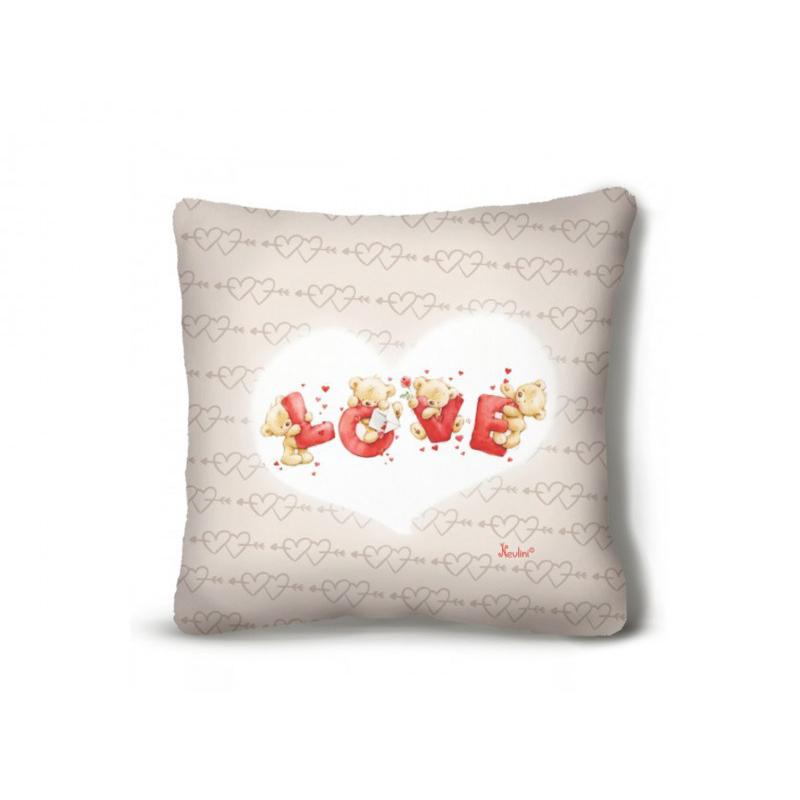 Díszpárna  Love macis 26cm