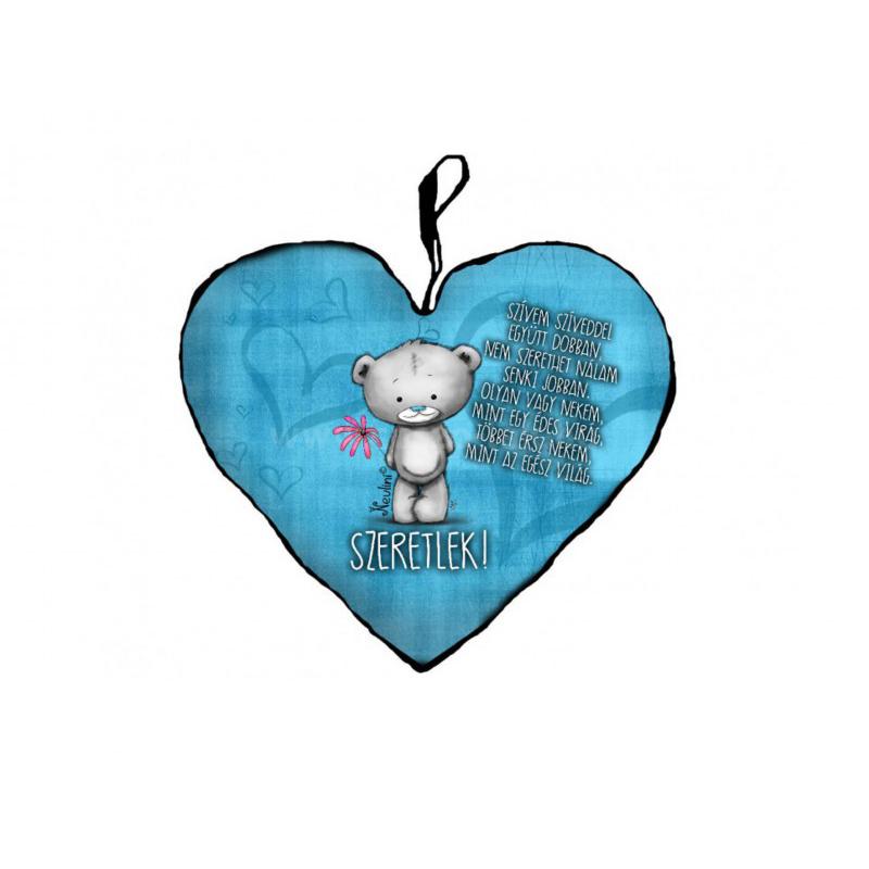 Díszpárna szív kicsi, Szívem szíveddel