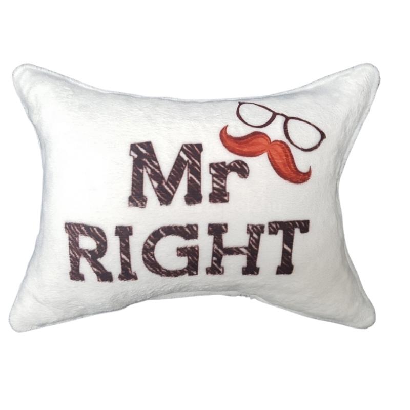 Mr. Right plüss párna
