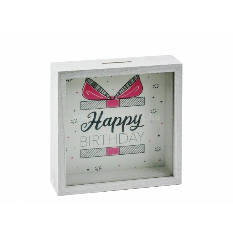 Happy Birthday feliratú persely box