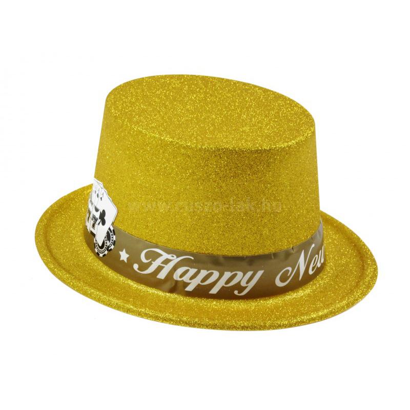 Party kalap Happy New Year arany